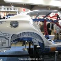 超ハイテン材を使用したインフィニティQ50の車体骨格モデル