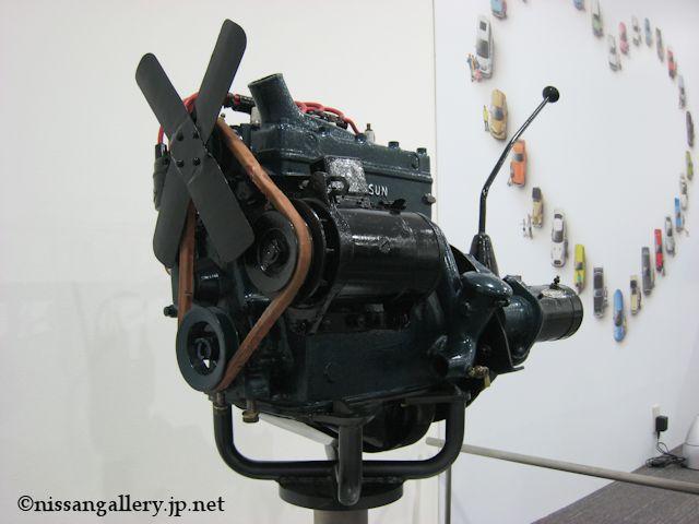 ダットサン14型に搭載された7型エンジン