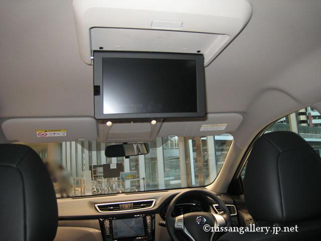 エクストレイル t32,後席専用モニター
