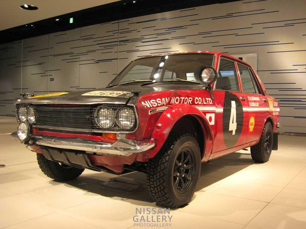 日本車初優勝のブルーバードを展示