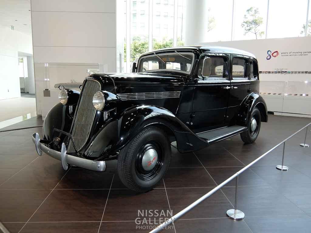 80周年特別展示でニッサン70型乗用車を展示