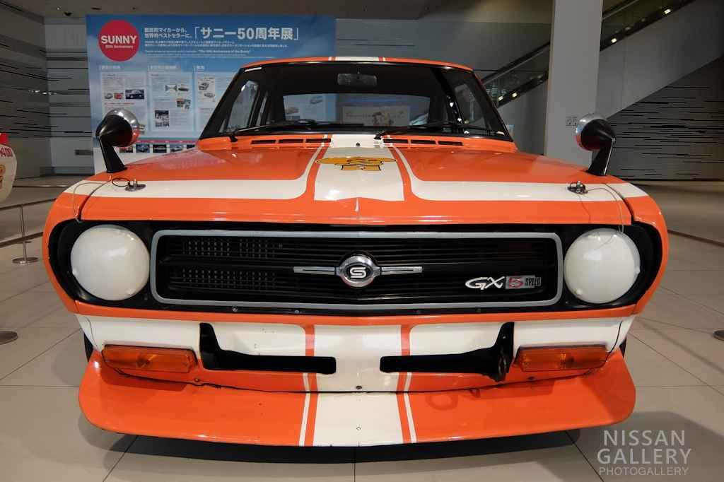 日産 サニーのレース仕様車を展示