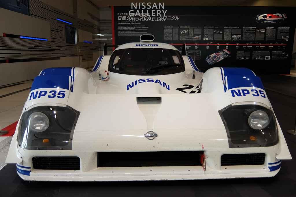 日産 グループCカーのNP35を展示