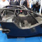 東レ GT-R GT500のカーボンモノコックを展示