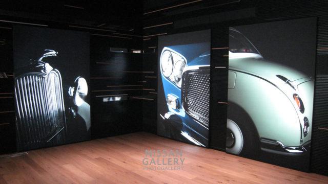 日産グローバル本社ギャラリー ヘリテージゾーンのアートウォール